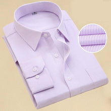 Load image into Gallery viewer, Fashion Brand Shirt Men Long Sleeve Spring Solid Color Business Office Formal Men Dress Shirt Plus Size Male Shirt Chemise 7XL