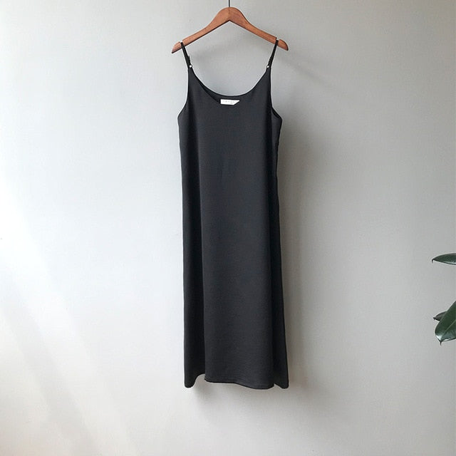 Spring summer 2020 Woman Tank Dress Casual Satin Sexy Camisole Elastic Female Home Beach Dresses v-neck camis sexy dress