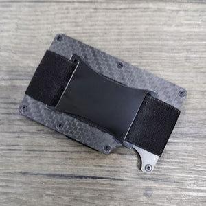Carbon Fiber Wallet RFID Blocking for Men  Aluminum Credit Card Holder Slim Metal Credit Card Case Fashion Anti Protect Clip Set