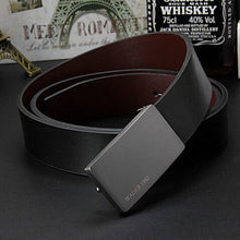 Load image into Gallery viewer, 2020 men's genuine leather belt male cowskin belt formal suit trousers belt cowhide smooth buckle metal starp gift for men belts