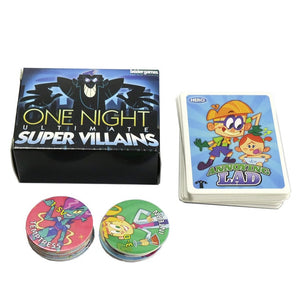 Board Game One Night Ultimate Werewolf, Daybreak, vampire, Alien,  super villains, bonus roles card Game family party game
