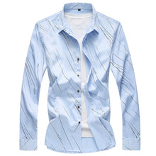Load image into Gallery viewer, 2020 Autumn New Men's Printed Shirt Fashion Casual White Long Sleeve Shirt Male Brand Clothes Plus Size 5XL 6XL 7XL