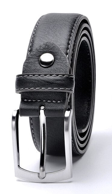 Fashion Male Belt High Quality Brand Cow Leather Italian Design Casual Men's Leather Belts For Jeans For Man Free Shipping