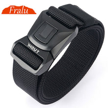 Load image into Gallery viewer, FRALU Hard Metal Simple Convenient Tactical Belt Soft Genuine Nylon Military Belt Tough Non-Slip Men's Hunting Fishing Belt
