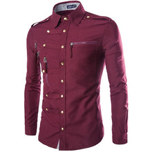 Load image into Gallery viewer, Brand Men Shirt 2020 Fashion Design Mens Slim Fit Cotton Dress Shirt Stylish Long Sleeve Shirts Chemise Homme Camisa Masculina