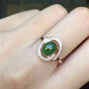 KJJEAXCMY fine jewelry 925 Pure silver inlay natural jasper female style ring jewelry gemstone simple plant leaf style curve