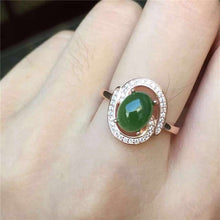 Load image into Gallery viewer, KJJEAXCMY fine jewelry 925 Pure silver inlay natural jasper female style ring jewelry gemstone simple plant leaf style curve