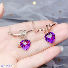 Load image into Gallery viewer, KJJEAXCMY boutique jewels 925 sterling silver inlaid amethyst gemstone female necklace pendant