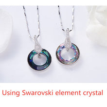 Load image into Gallery viewer, 2021 New S925 Silver Inlaid Natural Crystal AAA Zircon Necklace Lady Lucky Wheel Pendant Crystal Clavicle Chain Jewelry