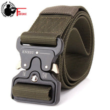Load image into Gallery viewer, SWAT Military Equipment Knock Off Army Belt Men Heavy Duty US Soldier Combat Tactical Belt Buckle Male Sturdy Nylon Waistband