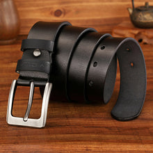 Load image into Gallery viewer, MEDYLA Dropship High Quality Genuine Leather Luxury Strap Male Belts For Men Jeans Casual Belt Pin Buckle Masculine Cummerbund - Find A Gift Fast