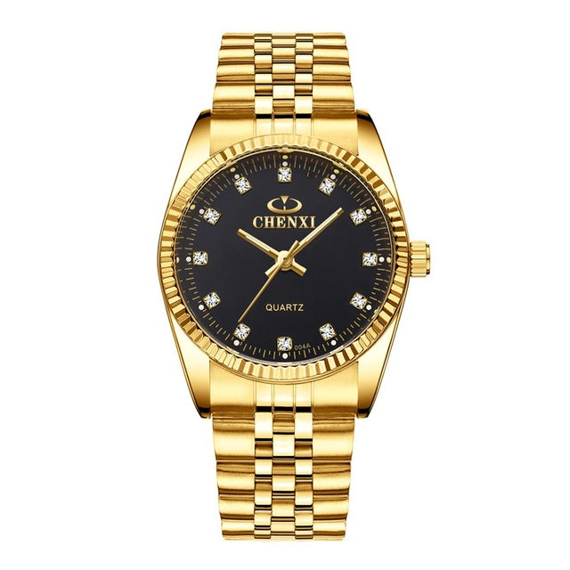 CHENXI Luxury Couple Watch Golden Fashion - Find A Gift Fast