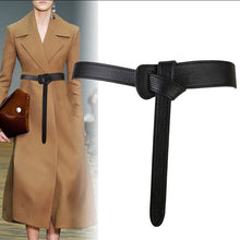 Load image into Gallery viewer, Luxury Female Belt for Women red Bow design Thin PU Leather Jeans Girdles Loop strap belts bownot brown dress coat accessories - Find A Gift Fast