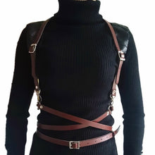 Load image into Gallery viewer, New sexy women men Leather belts slim Body Bondage Cage Sculpting fashion Punk Harness Waist Straps Suspenders Belt accessories - Find A Gift Fast