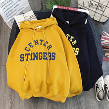 Load image into Gallery viewer, Zuolunouba High Street Knit Hooded Letter Lady Fleece Pullovers Ins Style Add Velvet Thick Sweater Women Autumn Winter Clothes - Find A Gift Fast