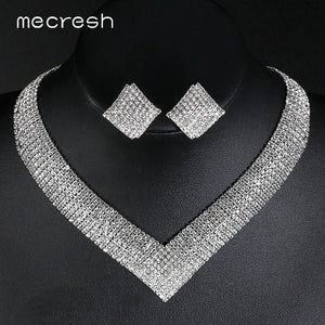 Mecresh Crystal Bridal Wedding Jewelry Sets - Find A Gift Fast