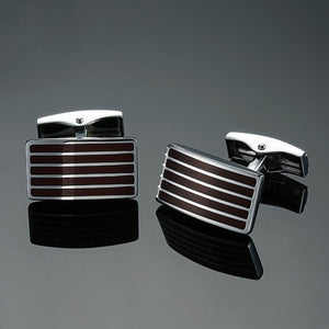 Copper quality enamel square stripes gold - Find A Gift Fast