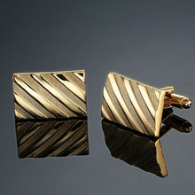 Load image into Gallery viewer, Copper quality enamel square stripes gold - Find A Gift Fast