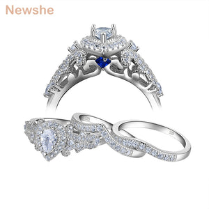 Newshe 3 Pcs 925 Sterling Silver