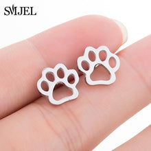 Load image into Gallery viewer, SMJEL Stainless Steel Mickey Stud Earrings for Women Girls Minimalist Fox Cat Hedgehog Earings Jewelry Animal Accessories Gifts - Find A Gift Fast