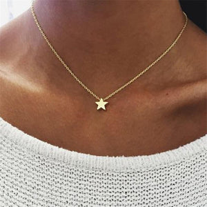 X063 Bohemia Simple Moon Star Heart Choker Necklace for Women Chain Necklace Pendant on neck Chokers Necklaces Jewelry Gifts - Find A Gift Fast