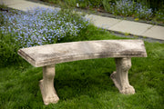 Vintage Mid-Century Curved Top Cast Stone Garden Bench