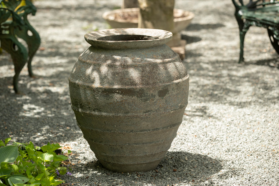 Vietnamese Washed Terracotta Lipped Jar