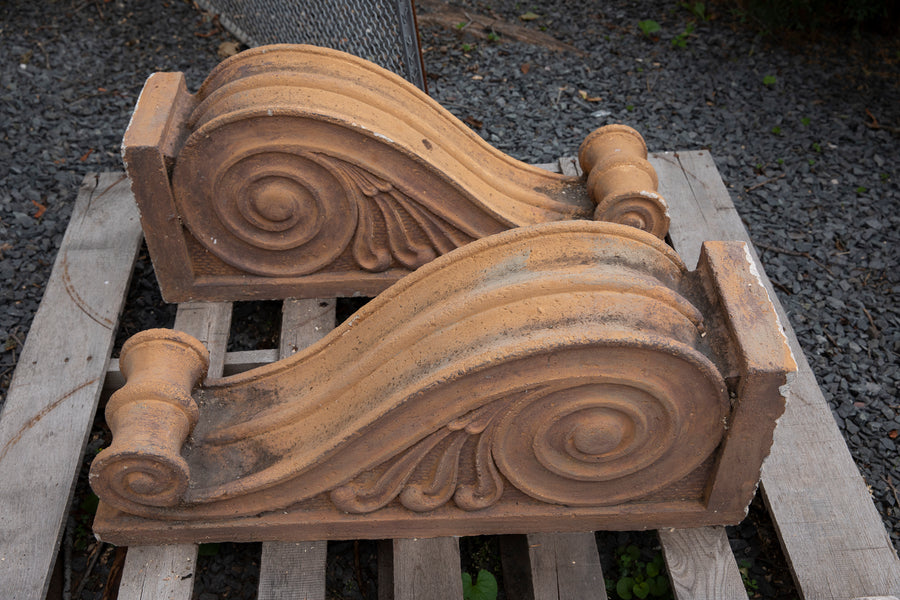 Vintage American Mid-Century Cast Stone Architectural Corbels