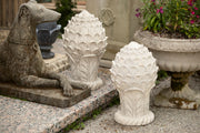 Cast Stone Artichoke Finials - Pair