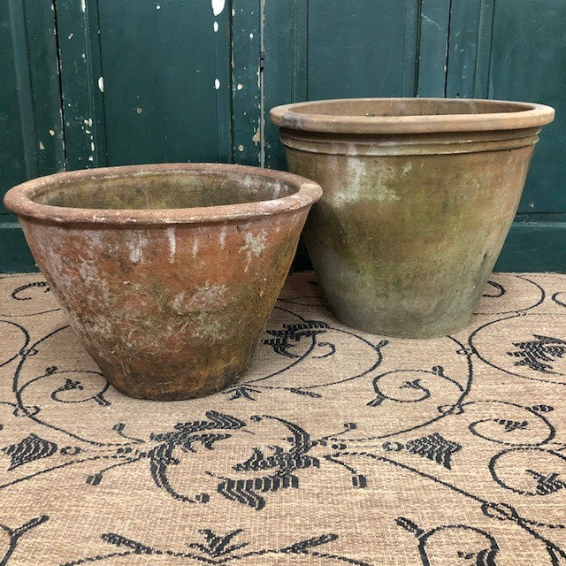Mexican Terracotta Mossy Planters