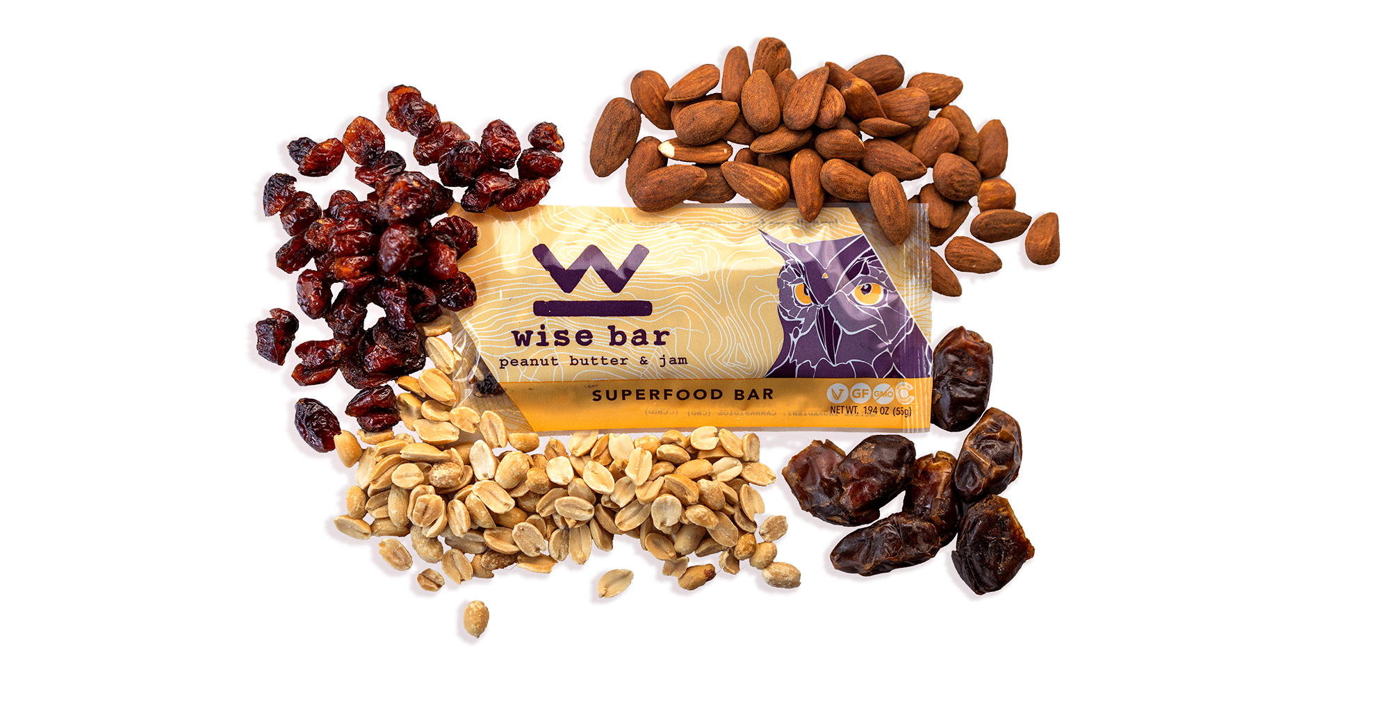 Peanut Butter & Jam - WISE BAR