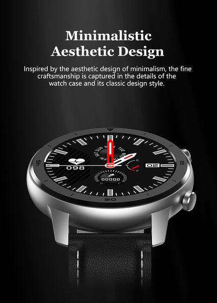 Inspired By The Aesthetic Design Of Minimalism, The Fine Craftsmanship Is Captured In The Details Of The Watch Case And It's Classic Design Style. The Formal/Sport Watch™ Blood Pressure, Oximeter & Heart Rate Monitor  |  Buyspotusa.Com Exercise & Fitness Products