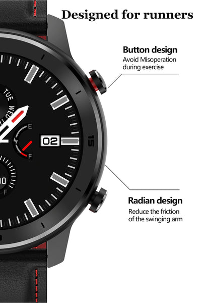 Designed For Runners Formal/Sport Watch™ Blood Pressure, Oximeter & Heart Rate Monitor has External Push Buttons, Design To Help Avoid Misoperation During Exercise. Also, Featuring A Radian Design That Reduces The Friction Of The Swinging Arm Of Sports Enthusiast.  |  BuySpotUSA.com Exercise & Fitness Products