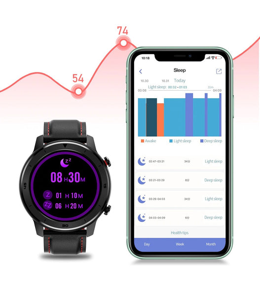 The Formal/Sport Watch™ Blood Pressure, Oximeter & Heart Rate Monitor Pairs With Your Mobile Device For Viewing The Past Records Of Your Nights Sleep And Provides Health Tips.  |  BuySpotUSA.com Exercise & Fitness Products