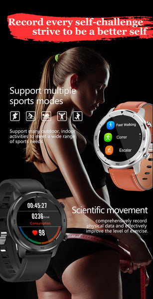 The Formal Sport Watch With Blood Pressure, Oximeter And Heart Rate Monitor Supports Multiple Sport Modes. Walking, Running, Bicycle Riding, Sports Mode , Basketball And Football. The Wrist Watch Comprehensively Records Physical Data To Improve The Level Of Exercise. |  BuySpotUSA.com Exercise & Fitness Products
