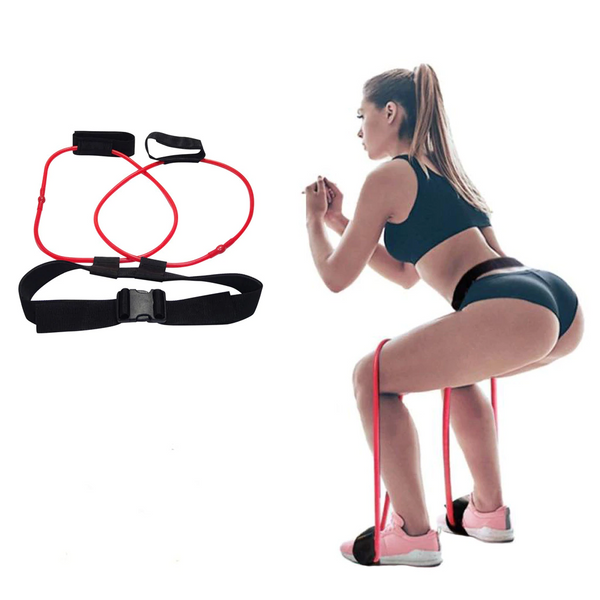 Resistance Training Band Demonstration Of The Double Leg Press. | A BuySpotUSA.com Exercise & Fitness Product