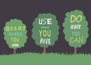 Start Where You Are Reduce Carbon Footprint