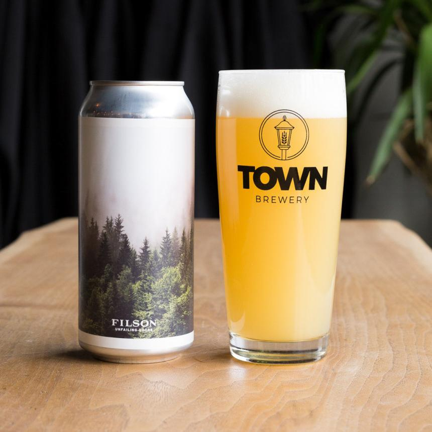 Town Brewery and Filson Tree Planting beer