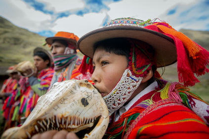 young boy andes ceremony
