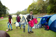 packing up camp