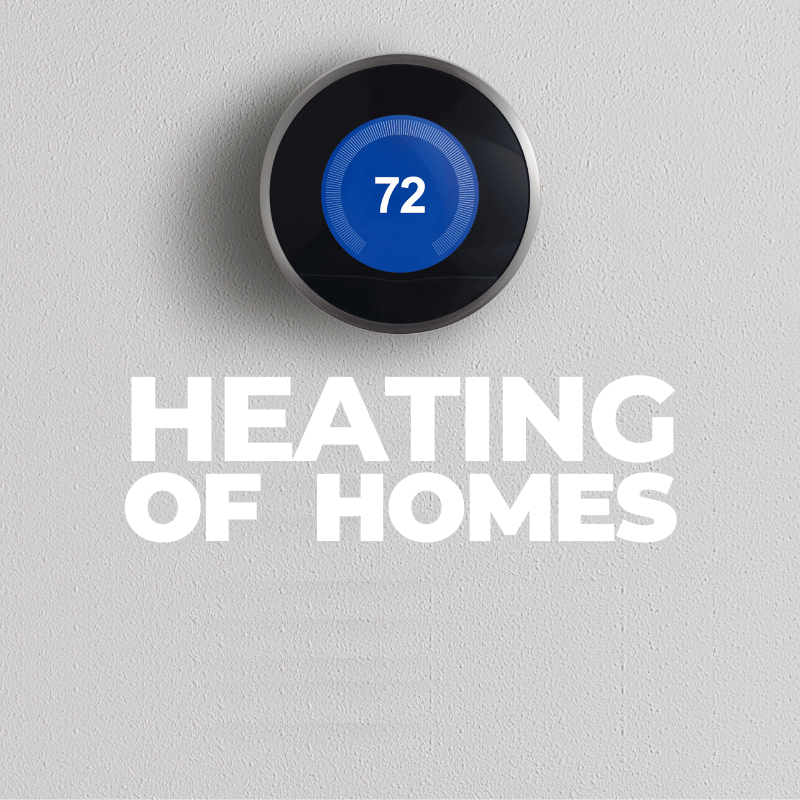 Heating of homes