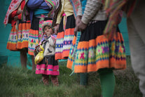 line of women andes ceremony