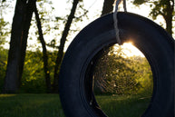 tire swing upcycled tire