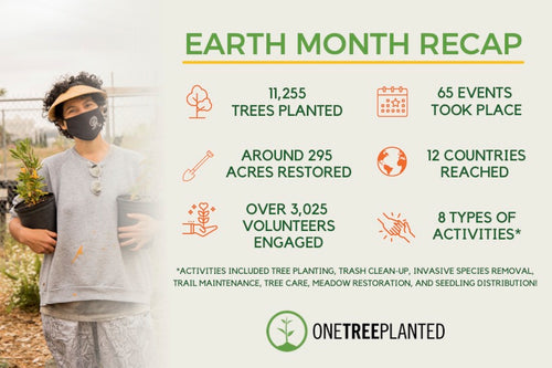 One Tree Planted Earth Month Recap
