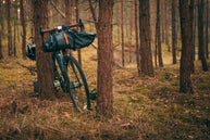 bike camping forest