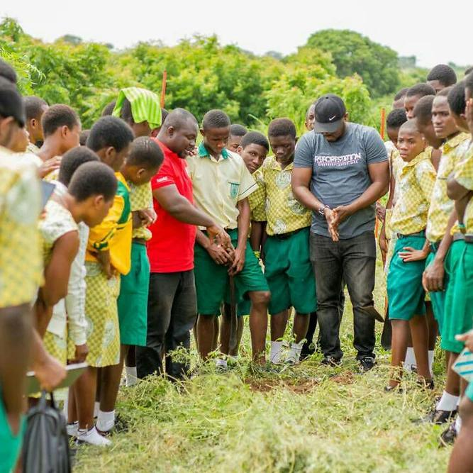 Children learning about the environment in Ghana