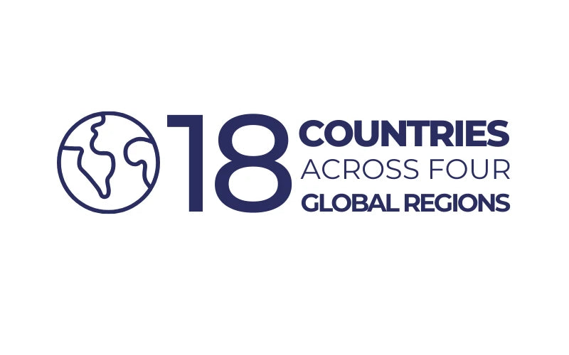 18 countries across four global regions