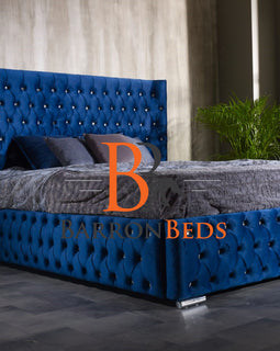 Imogen Chesterfield Winged Bed Frame Part of the Barronbeds Luxury Range