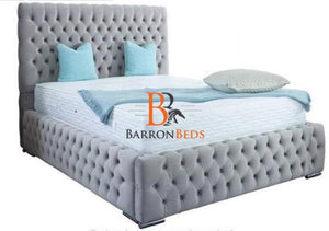 Lucy Bed Frame with chesterfield Headboard Only at Barronbeds