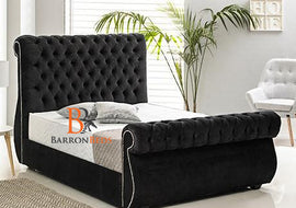 Alana Luxurious Swan Studded Bed Frame